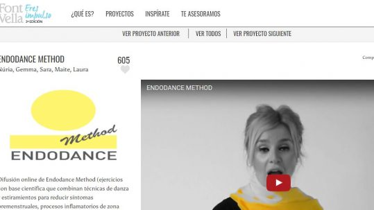 endodance method en el concurso Font Vella Eres Impulso